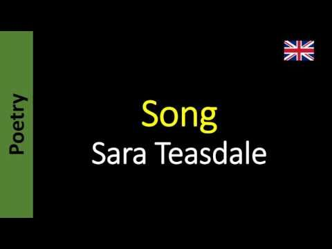 Poesia - Sanderlei Silveira: Song - Sara Teasdale