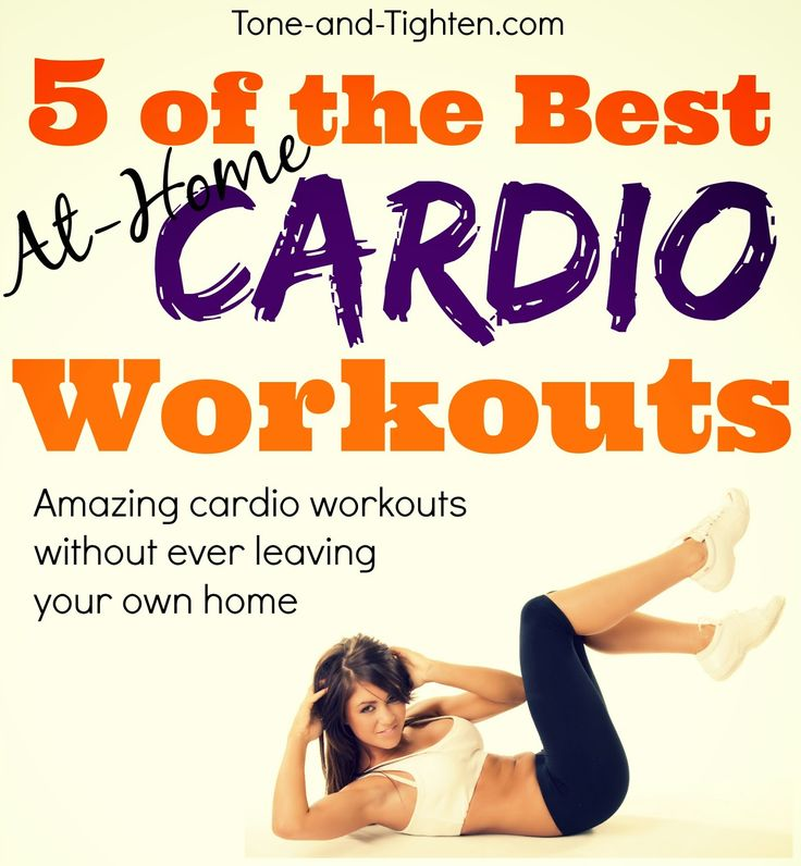 5 amazing workouts - At-home cardio style! Weekly Workout Plan #fitness #workout from Tone-and-Tighten.com