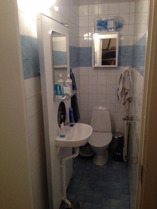 Hej!  Jag planerar just nu min badrumsrenovering. Badrummet är mycket litet; ca 85x220 cm.  Jag har idag en duschlösning som jag tycker funkar...