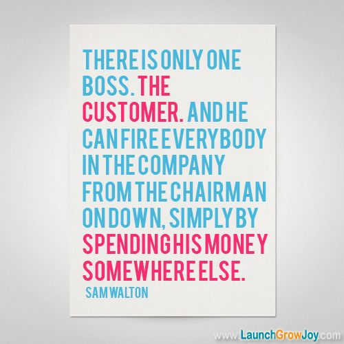 Great quote from Sam Walton - A good reminder in business!