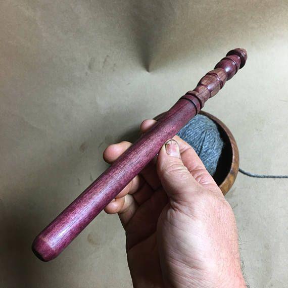Nostepinne adze woodcraft purple heart yarn winder