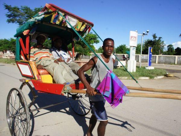 Rickshaw in Tulear -  Madagascar http://madacamp.com/Tulear