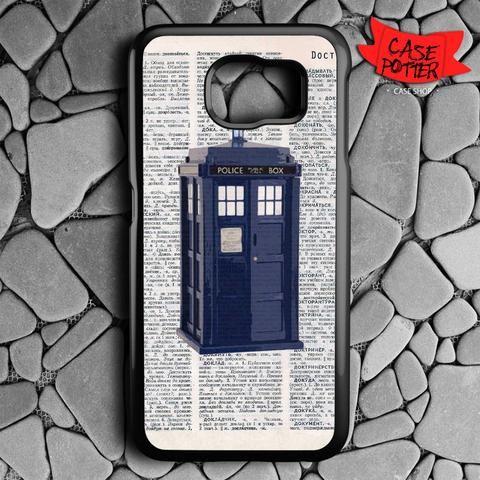 Dictionary Tardis Doctor Who Samsung Galaxy S7 Black Case