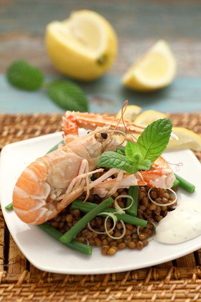Scampi saltati su insalatina di lenticchie    Cirio, gusta la nostra ricetta…