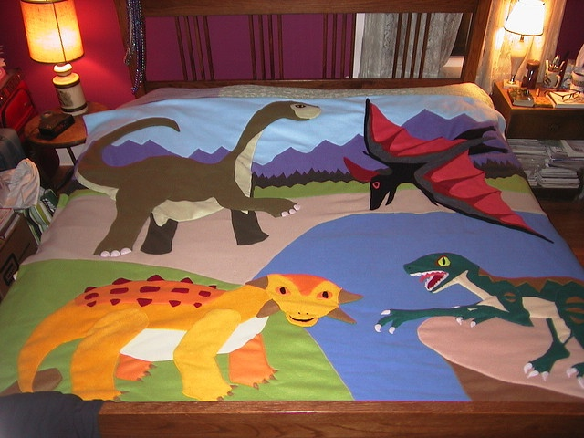 Michael wants me to make him a dinosaur quilt