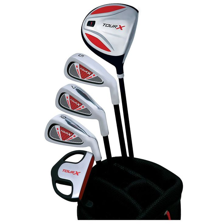 Merchants of Golf Tour X Right Hand 5-Club Junior Golf Club and Bag Set - Youth, Multicolor
