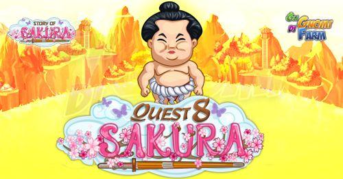 Story Of Sakura Quest #8  Inizio previsto per il 02/05/2016 alle ore 13:30 circa Scadenza il 09/05/2016 alle ore 12:30 circa    Mancano 9 giorni 8 ore 43 minuti 15 secondi alla scadenza della quest!    Quest #1  Fatti mandare dai tuoi vicini 7 Bamboo Reeds; con gli sconti SmartQuest dovrebbero servirne un massimo di 1 (clicca sul tasto Ask Friends per pubblicare la richiesta sulla tua bacheca).  Raccogli 80 zolle di Sakura Shells da 10 min  Sakura Shells da 10 min (locked in Story Of Sakura)…