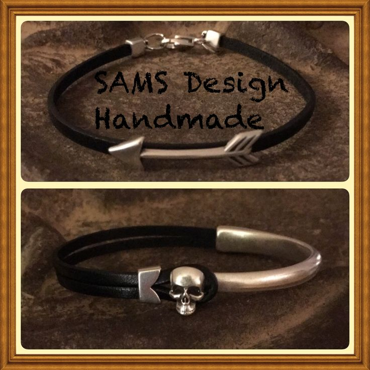 Läder armband Leather bracelet  SAMS Design Handmade