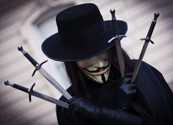 V for Vendetta. I have no idea what this is from, but the costume is masterful.