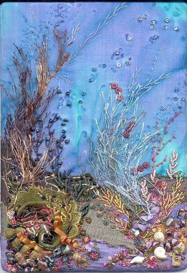 Following The Threads Under The Sea Fabric Art Crazy