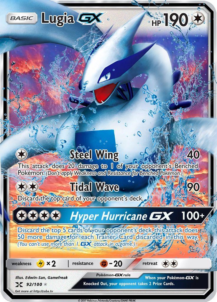 Lugia gx custom pokemon card pokemon cards cool pokemon