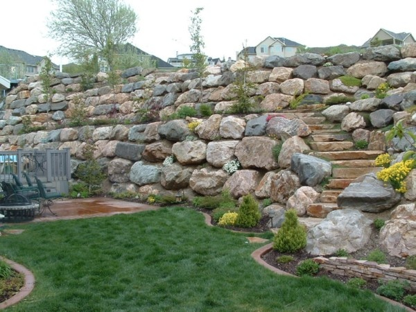29 best images about garden retaining wall ideas on pinterest for Landscaping rocks ogden utah