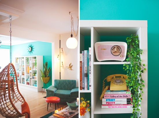 Kitschy Midcentury Homealso love all of these rooms this one is a
