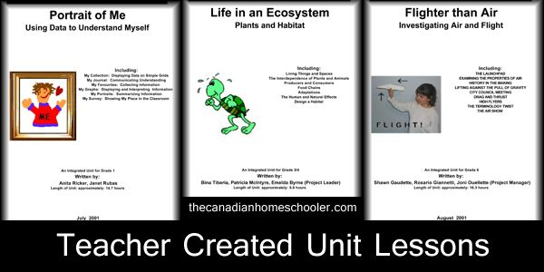 Classroom Lesson Plans, designed by teachers in Ontario, on Science and Social Study subjects for Grades 1 - 8.