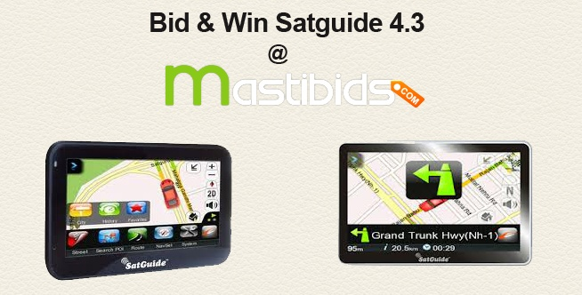 #Online #Bidding for 'Satguide 4.3 Navi-Min'    We offers the chance to #bid and #win this 'Satguide 4.3 Navi-Min GPS' product.    http://mastibids.com/blog/?p=1041