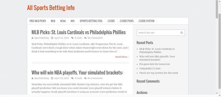 free mlb picks, nhl games, free nhl picks -- http://allsportsbettinginfo.com