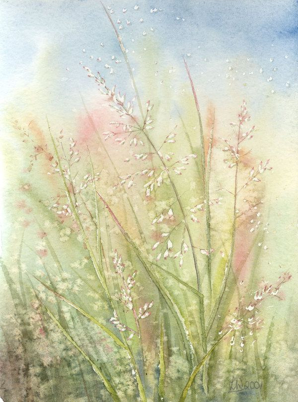 Grasses by louise-art on DeviantArt