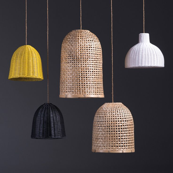 Bell Citron Rattan Lamp Shade by Citta Design | Citta Design