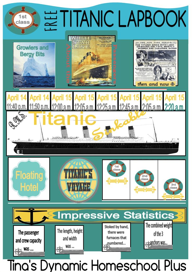 Titanic Free Lapbook @ Tina's Dynamic Homeschool Plus