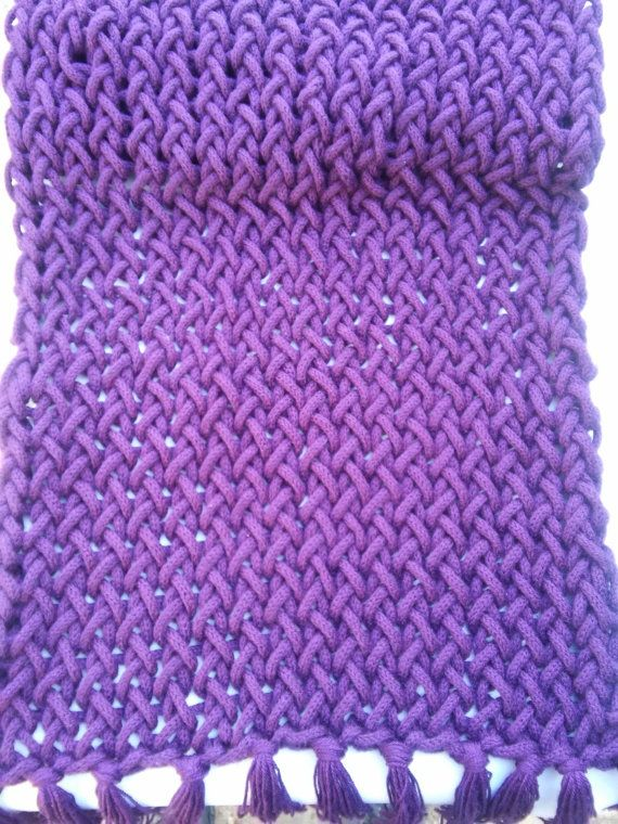 Purple throw  blanket  home decor by Mmancrafts on Etsy