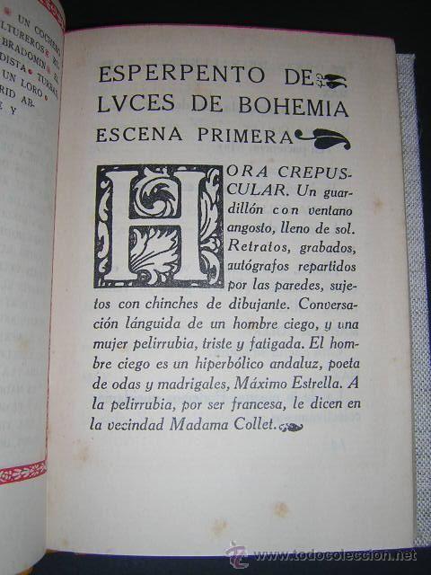 """Y aquí tenéis la primera pagina de """"Luces de Bohemia"""" después de esta pagina hay una conversación entre Maximo Estrella y Madama Collet"""