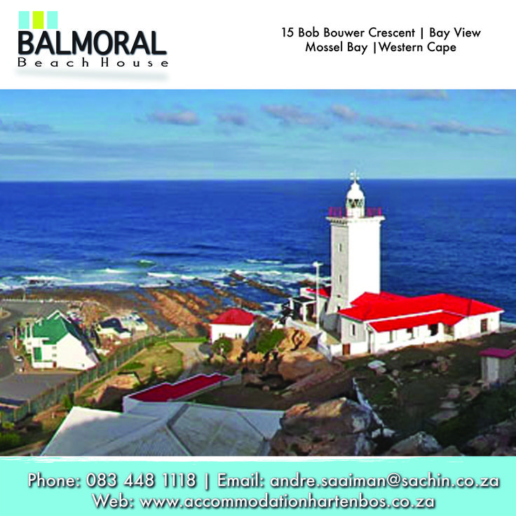 Cape St Blaize Lighthouse in Montagu Street, Mossel Bay, South Africa. You can walk up the the top to watch the very beautiful view of the sea and surroundings! #Activities #Accommodation #Lighthouse