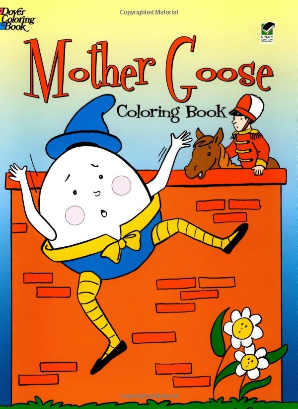 Mother Goose Coloring Book Dover Classic Stories Cathy Beylon