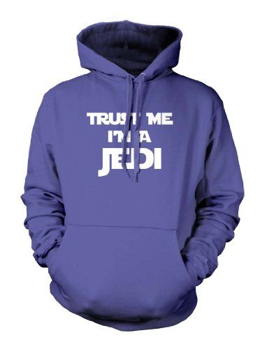 Trust Me Im A Jedi Funny Movie Star Wars Yoda Luke Skywalker Mens Size Hoodie Sweatshirt (Medium ROYAL BLUE)
