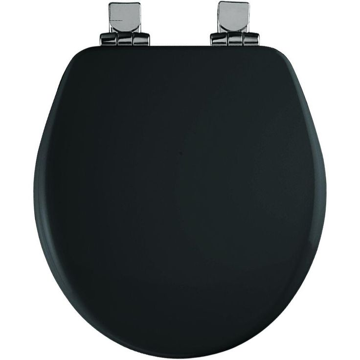 Church Round Closed Front Toilet Seat in Black