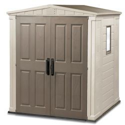 Check out Keter Apex Shed - 6x4 from Tesco direct £280