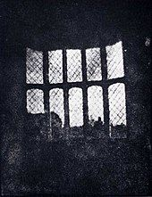 Henry Fox Talbot - Latticed window at Lacock Abbey, August 1835. A positive from what may be the oldest existing camera negative.