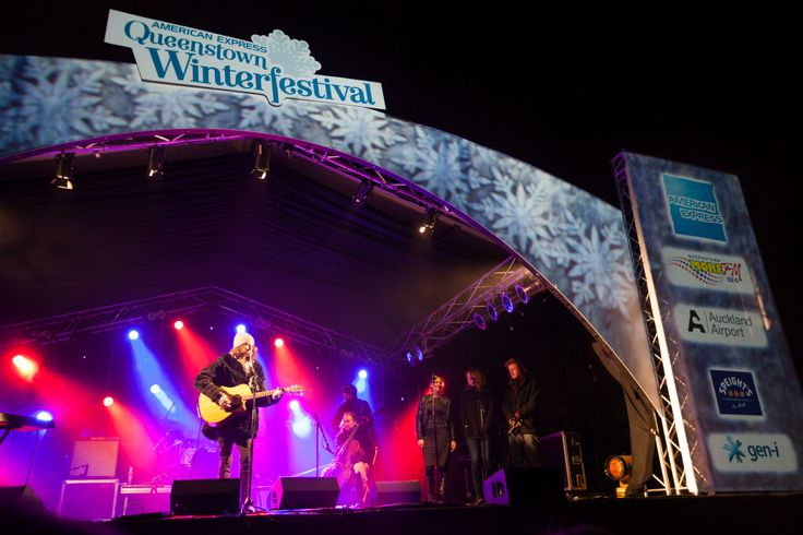 Sam Maxwell performing at the American Express Queenstown Winter Festival's Opening Party and Fireworks in downtown Queenstown. #qtwinterfest #winter2013