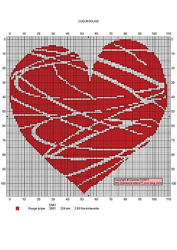 coeur rouge