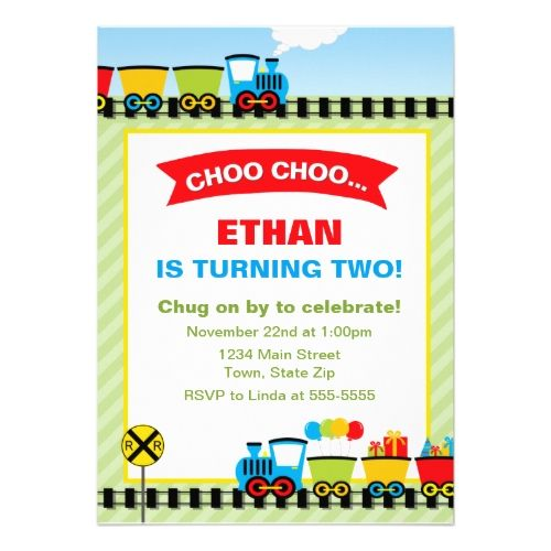 The 120 best Train Birthday Party Invitations images on Pinterest