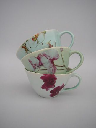 Sarah Reed teacups, to add to my collection