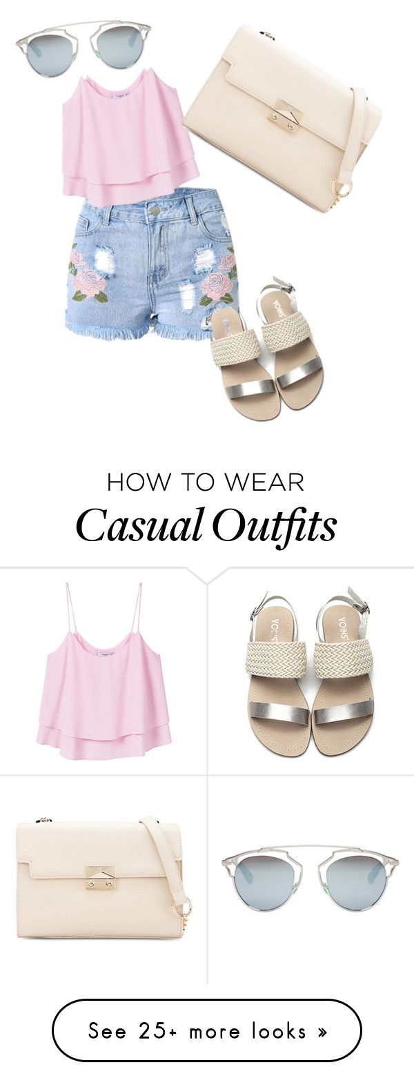 """""""Casual summer outfit"""" by jasmin-marie-pena on Polyvore featuring MANGO and Christian Dior"""