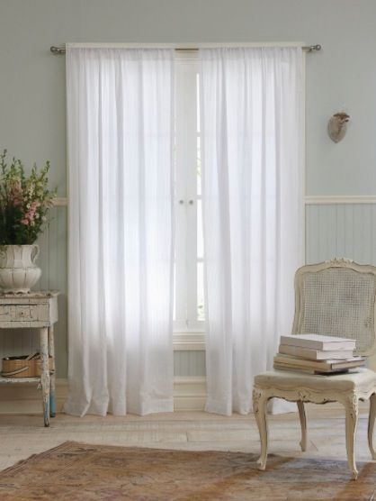 Classic Simply Shabby Chic Curtain Panels Are Perfectly Suited To Any Sunny Bedroom They Provide Lightweight Texture And Will Go With Bedding Or Living