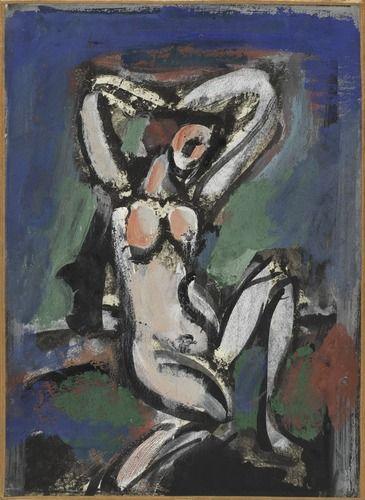 Georges Rouault, Nu aux bras levés, 1929 - 1939 Centre Pompidou Virtuel - Nu aux bras levés