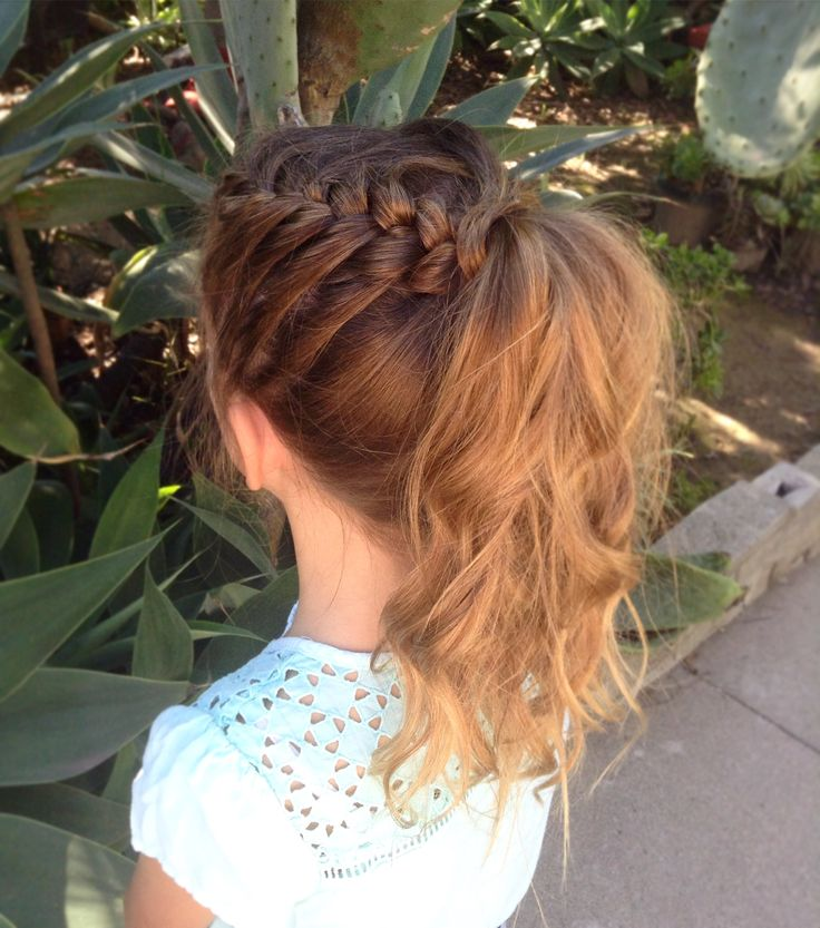 Braid to messy ponytail #hairbye.claire