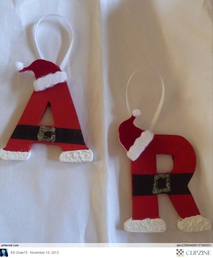 Christmas Crafts; these would make cute identification tags