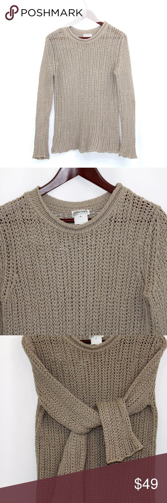 "Joan & David Crewneck Taupe Sweater Size M Joan & David Crewneck Taupe Sweater  Retail Value $168.00  CONDITION  Excellent Flawless Pre-Owned    DESCRIPTION  MADE IN ITALY Size: M Material: No info ~ Looks like 100% Cotton  Measurements: Shoulders: 17""                           Chest: (armpit to armpit): 19""                           Length: 26"" Joan & David Sweaters Crew & Scoop Necks"