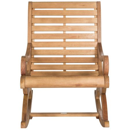 The porch rocker gets a glamour makeover in this outdoor rocking chair with transitional lines that update the profile of a British classic. This piece is...