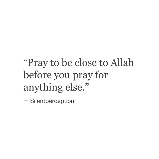 The more you pray with your heart, the closer to Allah you will be.❤️