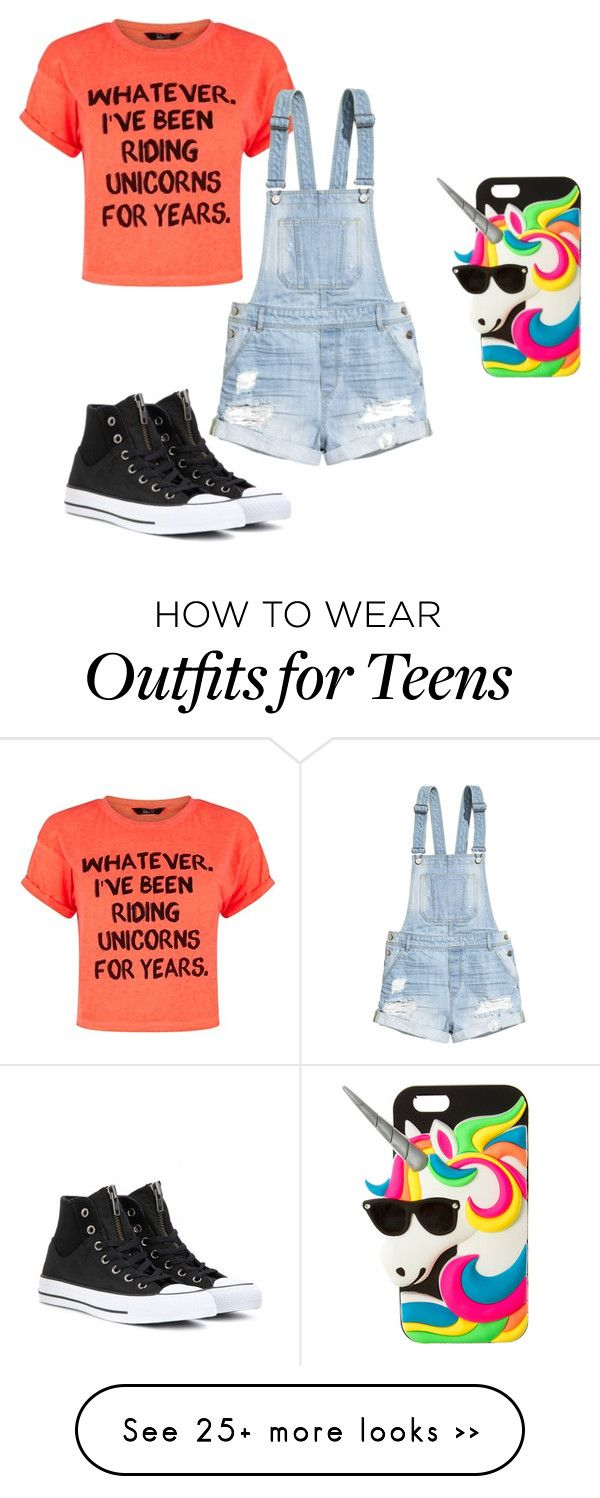 """Unicorns are magical!!"" by lulubeans101 on Polyvore featuring H&M, Converse and claire's"