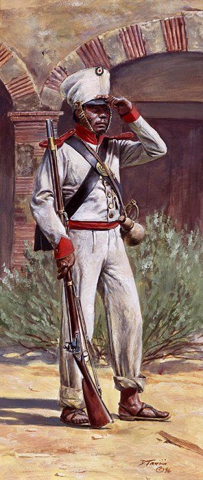 Texas War of Independence: Mexican private,Grenadier Company of the 5th or Guerrero Regiment Permanente Infantry as he would have appeared at the Alamo and San Jacinto 1836.