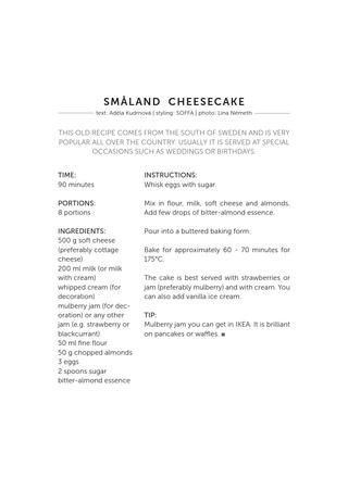 Smaland cheesecake