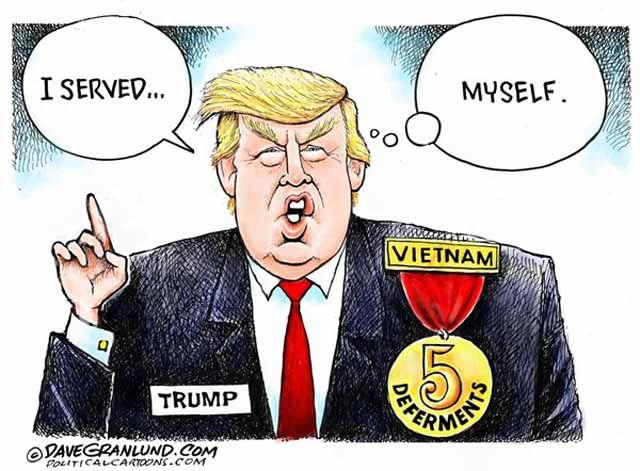 With 5 deferments to serve in military. Money can buy you anything with the right connections.