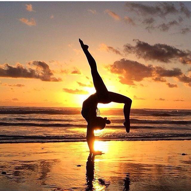 Yoga Shadow At Sunrise Sunset Yoga Poses In 2019