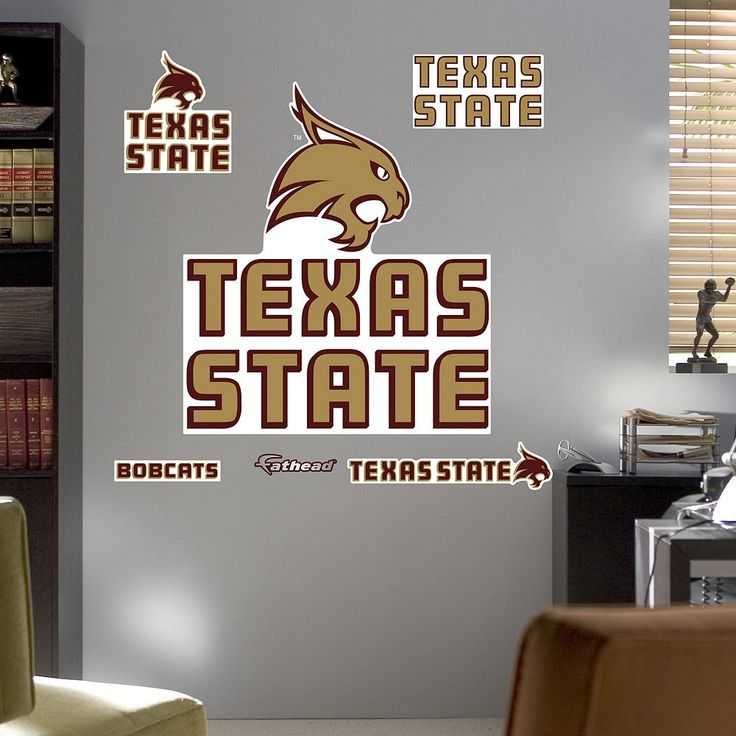 Fathead Texas State Bobcats Wall Decals, Multicolor