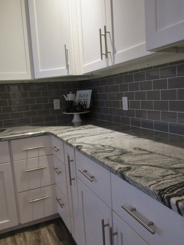 White Tile Backsplash Farmhouse